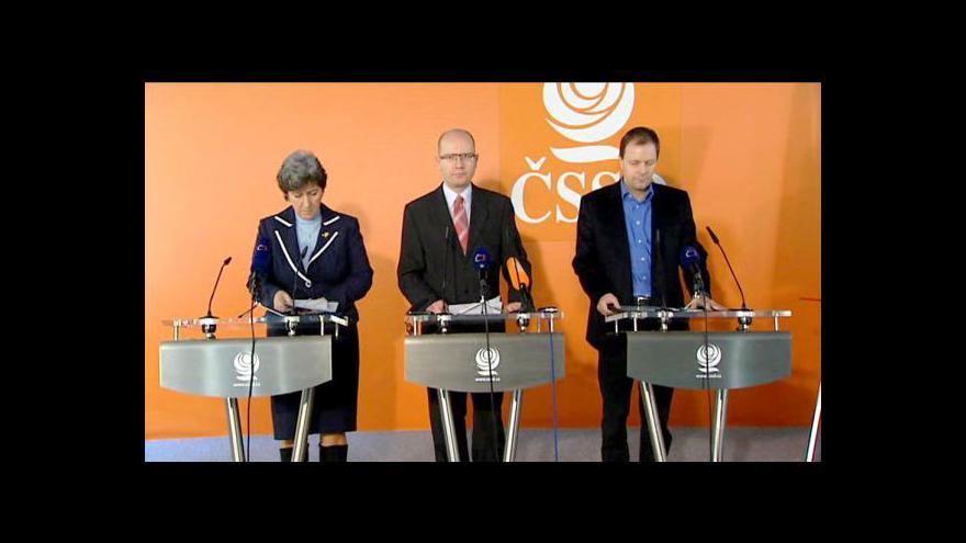 Video Brífink ČSSD k důchodové reformě a smlouvě o fiskální unii