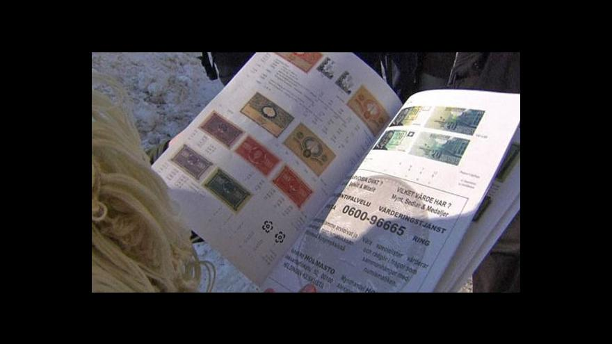 Video Finové mění marky za eura