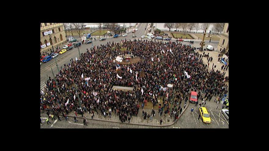 Video Studentské protesty pokračují