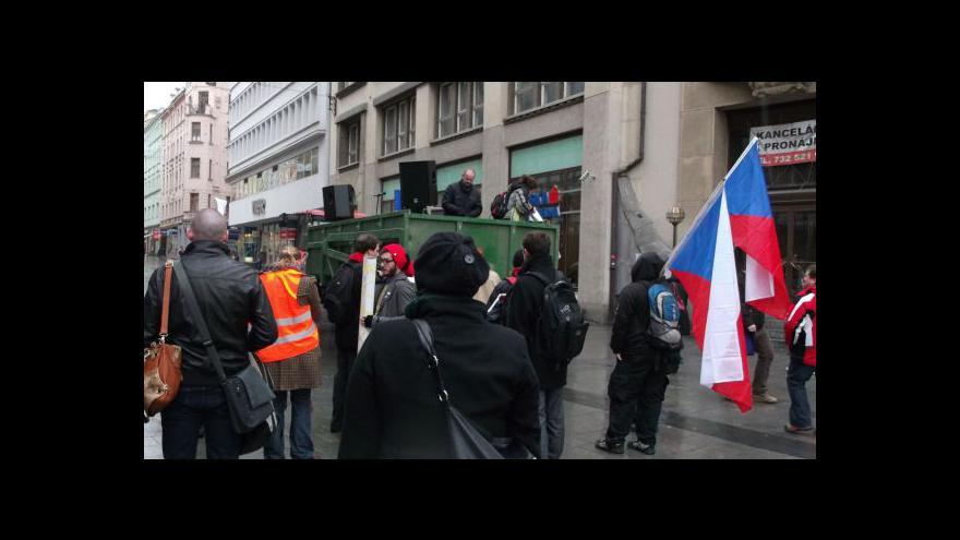 Video Studenti se shromažďovali na Malinovského náměstí