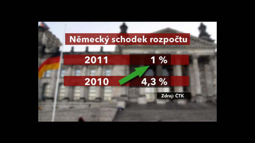 Video Německo snížilo schodek HDP