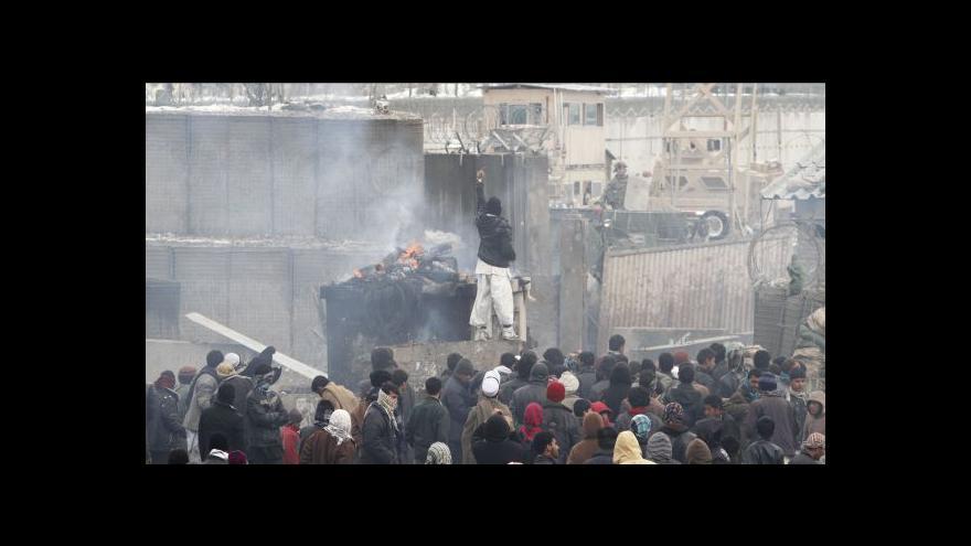 Video Studio ČT24 o protestech v Afghánistánu
