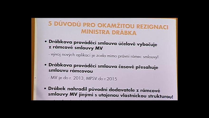 Video Brífink ČSSD k MPSV či situaci v justici
