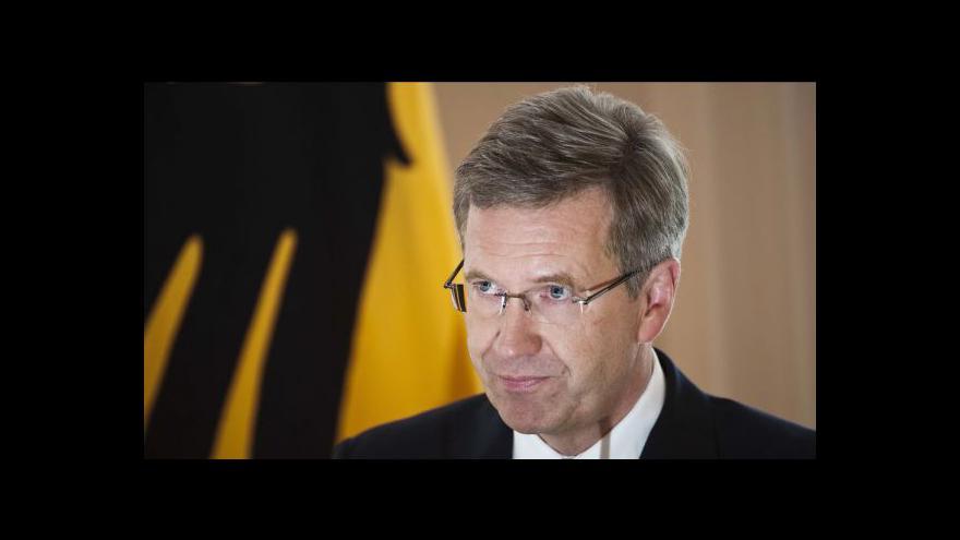 Video Německý prezident Wulff rezignoval