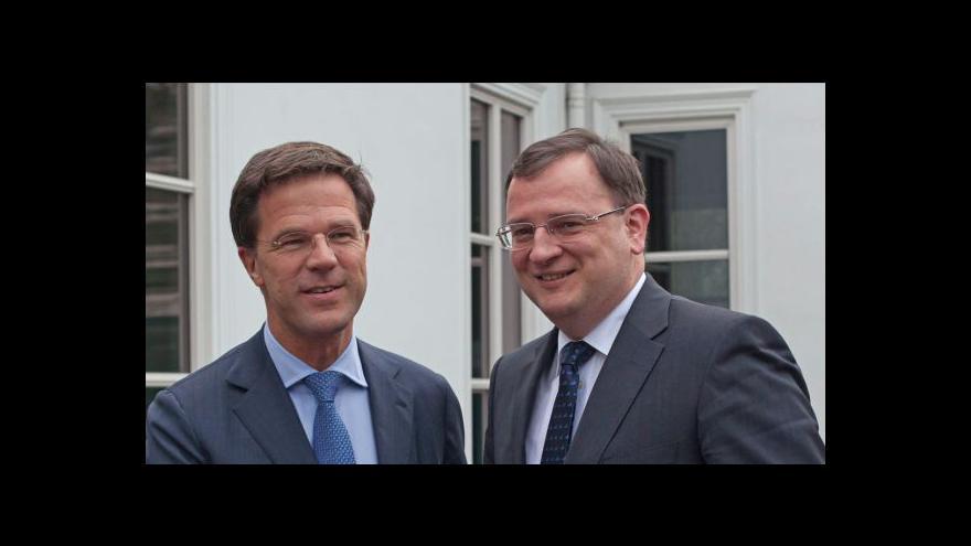 Video Rutte a Nečas k výzvě PVV