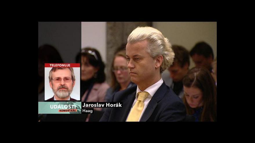 Video Velvyslanec ČR v Nizozemsku Jaroslav Horák hostem Událostí, komentářů