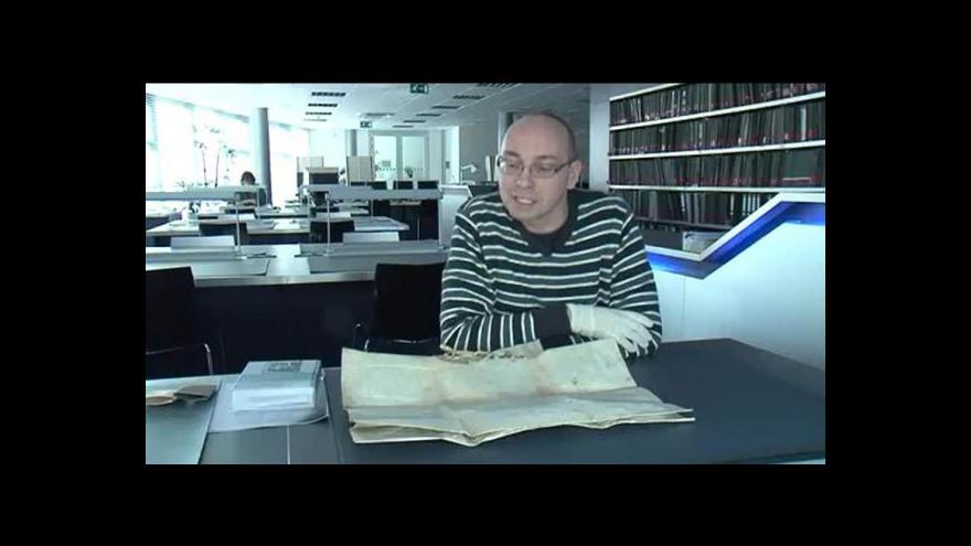 Video O vzácné listině hovoří historik Tomáš Černušák