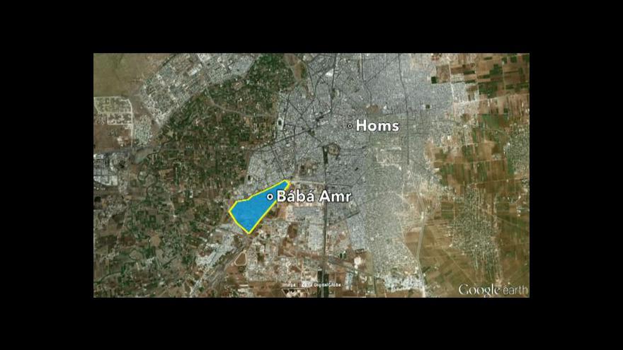Video V Homsu se dál bojuje