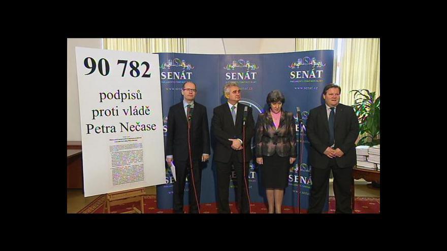 Video Brífink ČSSD ke slyšení v Senátu
