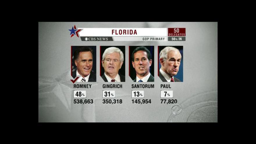 Video Romney vyhrál primárky na Floridě