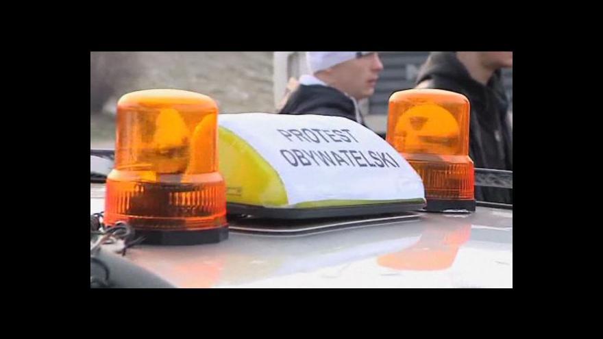 Video Reportáž o protestu polských řidičů