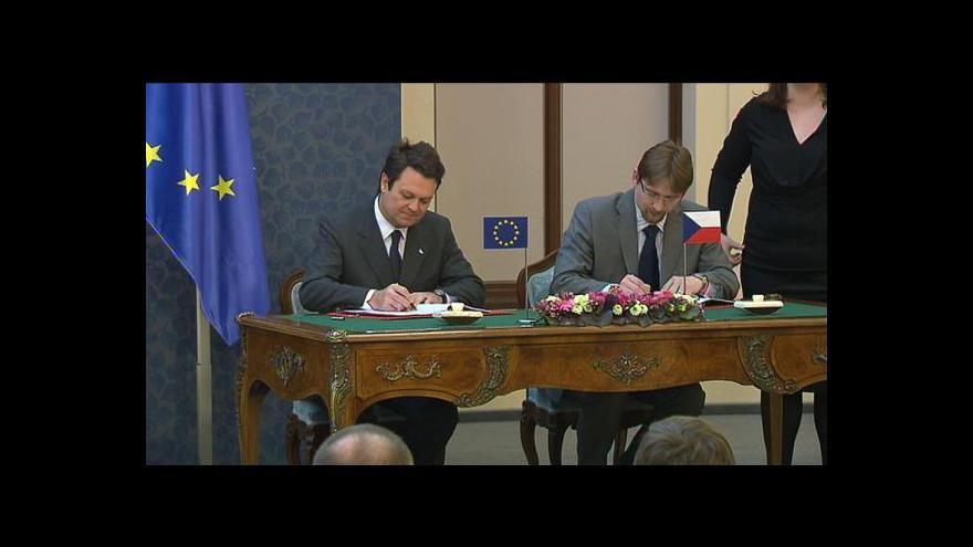 Video Podpis smlouvy k přesunu Galilea