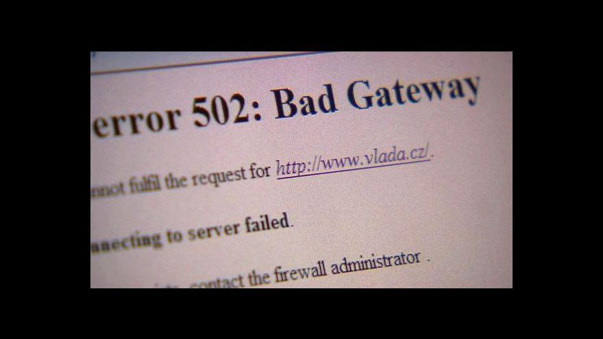 Video Stránky vlády a OSA zablokoval nápor připojení