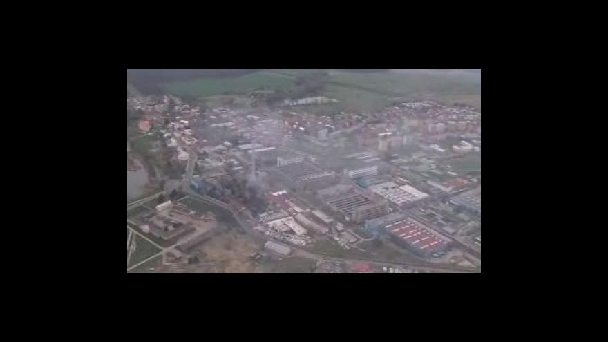 Video Letecké záběry Chropyně po požáru