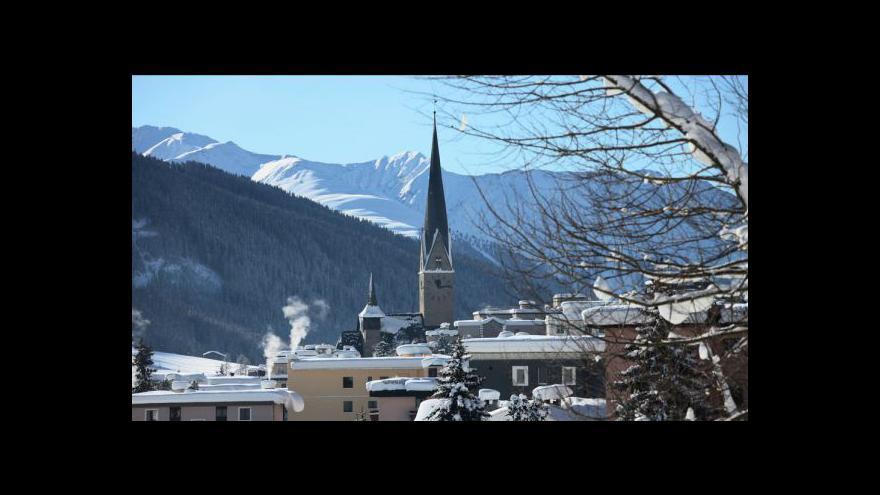 Video Merkelová na fóru v Davosu