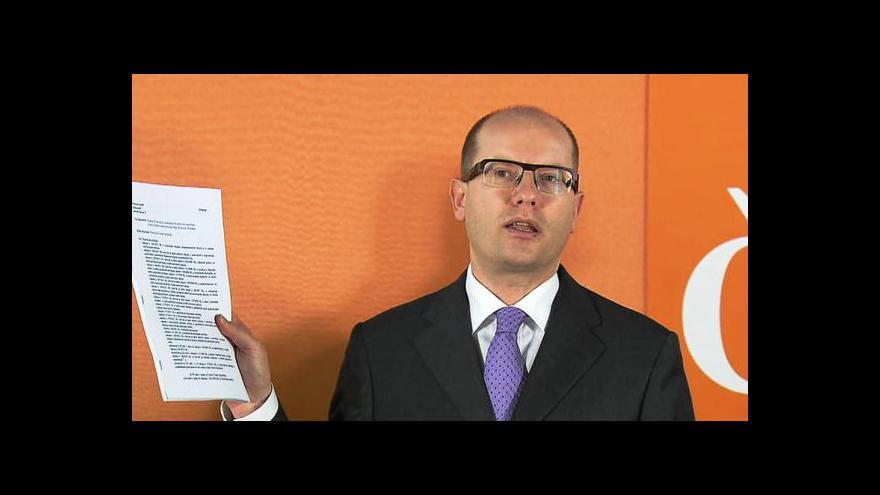 Video TK předsedy ČSSD Bohuslava Sobotky