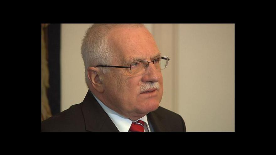 Video Vyjádření Václava Klause v Radiožurnálu