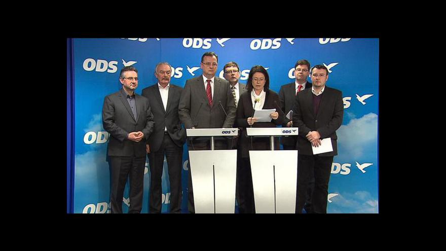 Video Brífink výkonné rady ODS