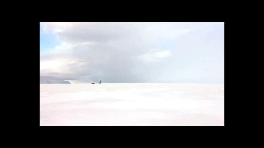 Video Studio ČT24 - Britka přešla Antarktidu