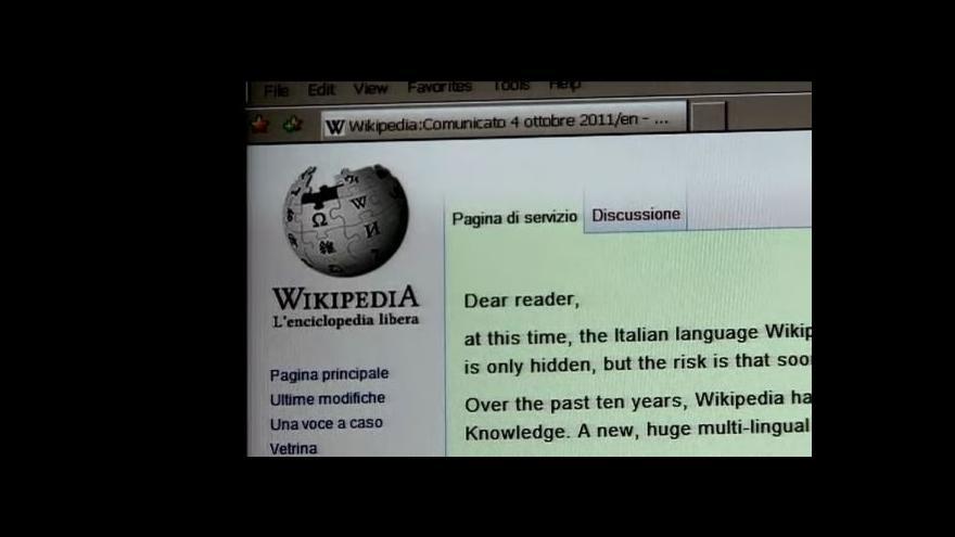 Video Wikipedia stávkuje