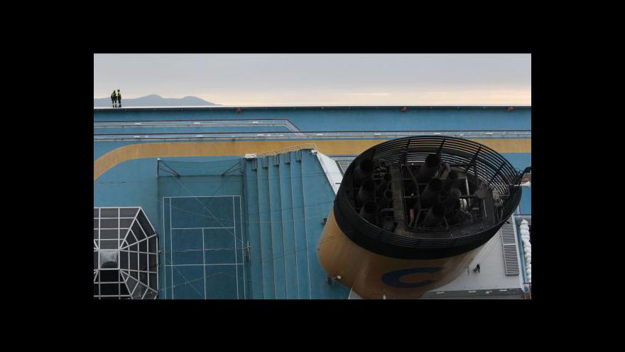 Video Studio ČT24 o lodi Concordia