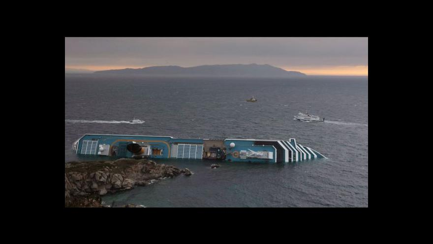 Video Studio ČT24 o nehodě lodi Concordia
