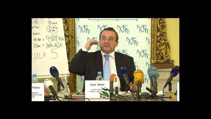 Video TK Josefa Dobeše k reformě regionálního školství