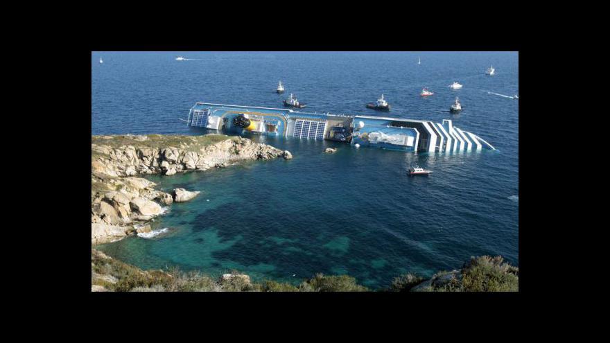 Video Záchrana lidí z Costa Concordia