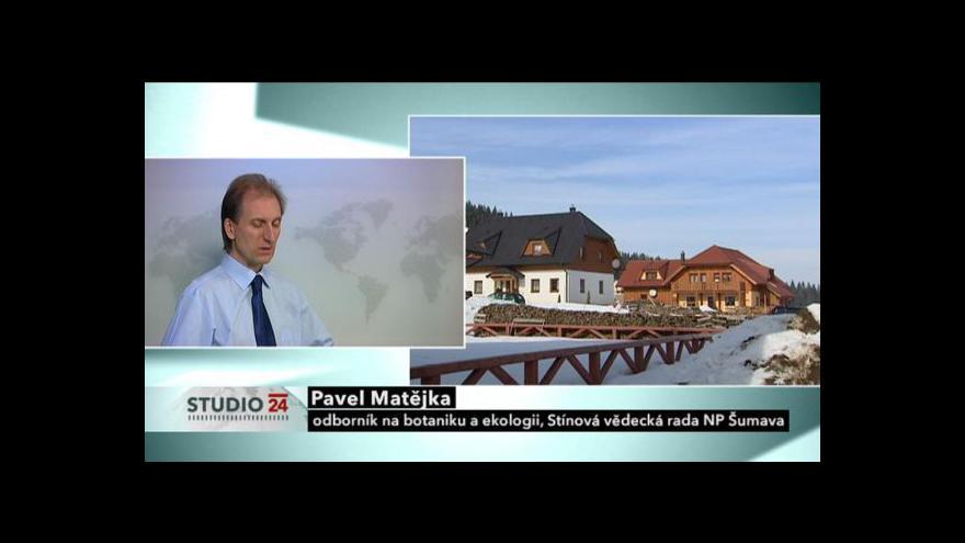Video Studio ČT24: Nový zákon o Šumavě