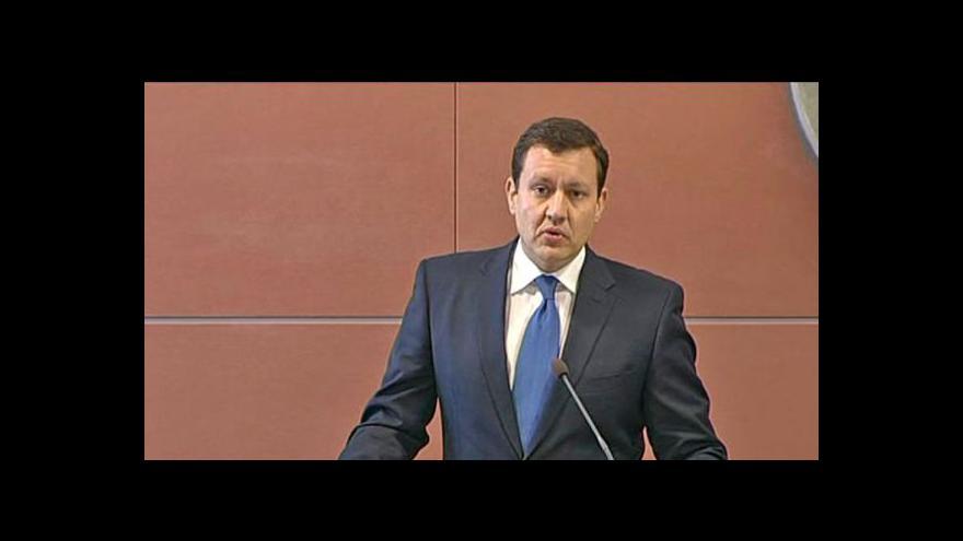Video Ministr vnitra Daniel Lipšic v Událostech, komentářích