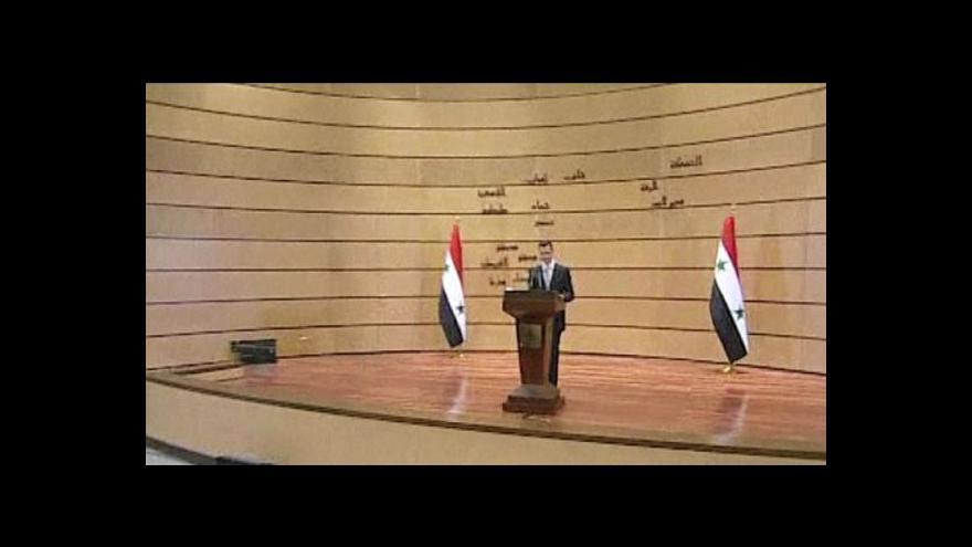 Video Asad obvinil zahraničí ze snahy destabilizovat Sýrii