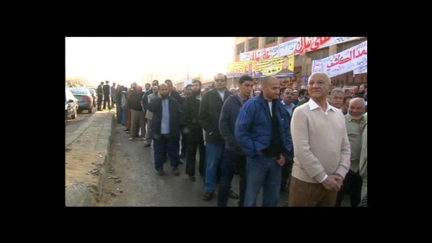 Video V Egyptě vrcholí volby do Lidového shromáždění