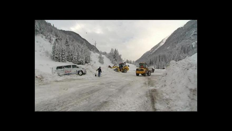 Video Alpy zasáhla sněhová kalamita