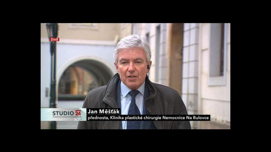 Video Plastický chirurg Jan Měšťák hostem Studia ČT24