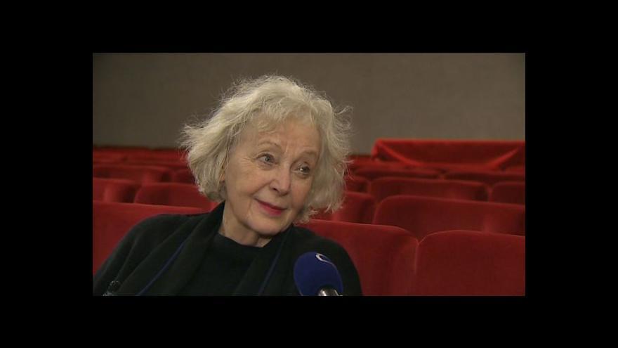 Video Rozhovor s Květou Fialovou o hře Oskar a růžová paní
