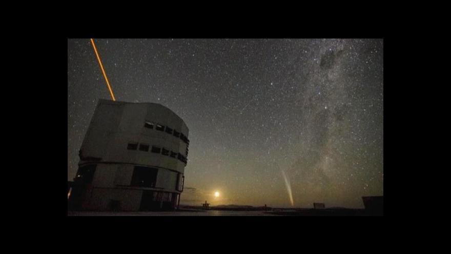 Video Záběr s kometou Lovejoy