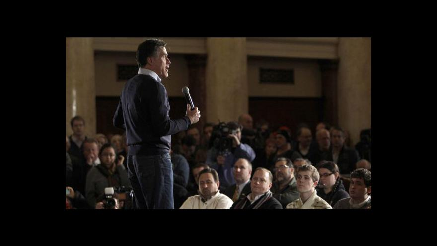Video Primárky v Iowě vyhrál Romney