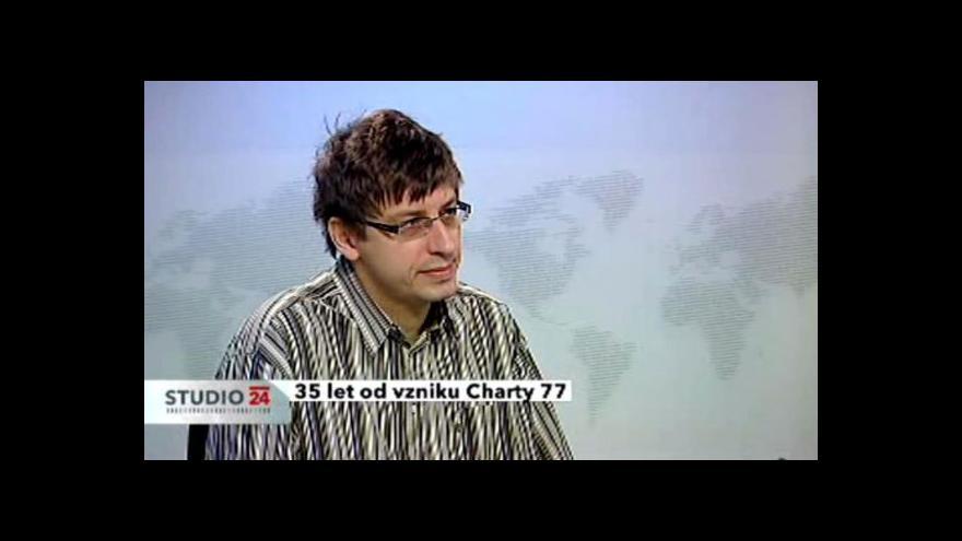 Video Historik Petr Blažek ve Studiu ČT24