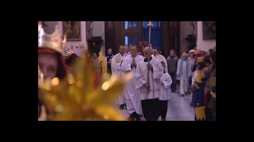 Video Bohoslužba k zahájení Tříkrálové sbírky v Brně