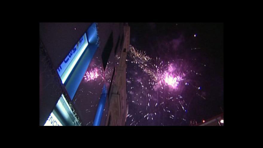 Video NO COMMENT: Lidé v centru Brna vítali nový rok