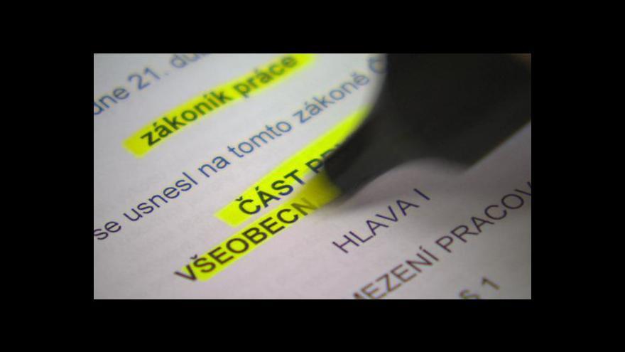 Video Nová pravidla v pracovním právu