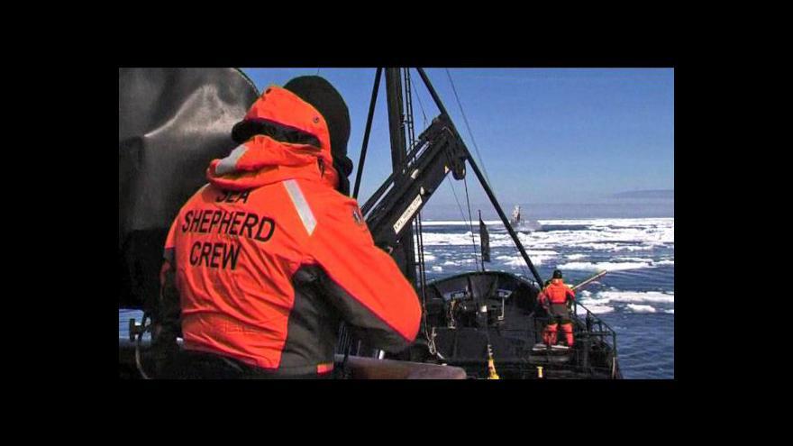 Video Sea Shepherd má poškozenou jednu ze svých lodí