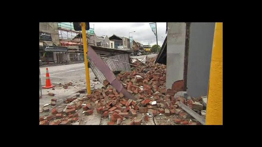 Video Nový Zéland zasáhlo zemětřesení