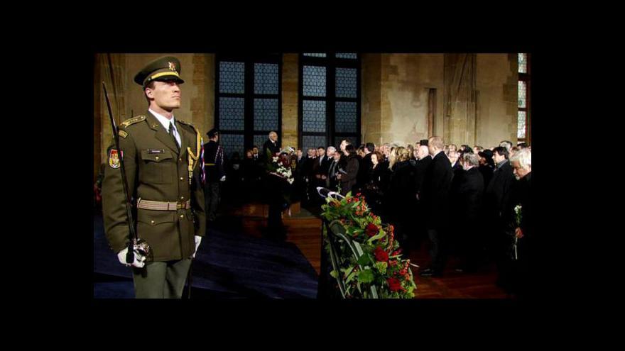 Video Projev prezidenta Klause k Václavu Havlovi