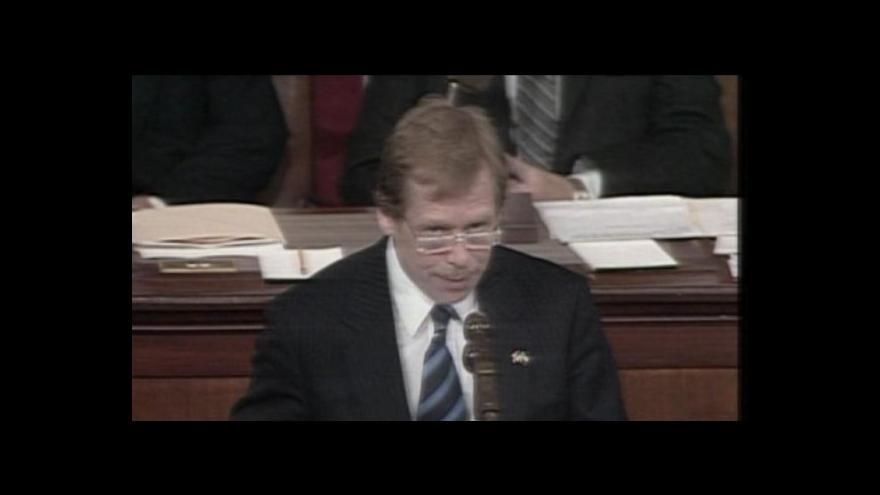 Video Václav Havel v americkém kongresu - sestřih (1990)