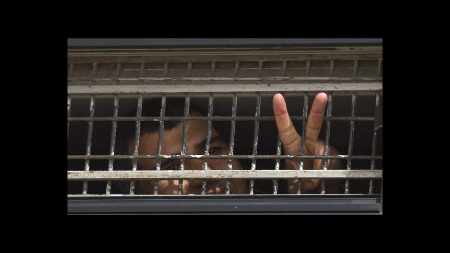 Video Reportáž o propouštění vězněných Palestinců