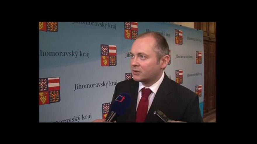 Video Jihomoravský hejtman Michal Hašek (ČSSD) o investicích do letiště