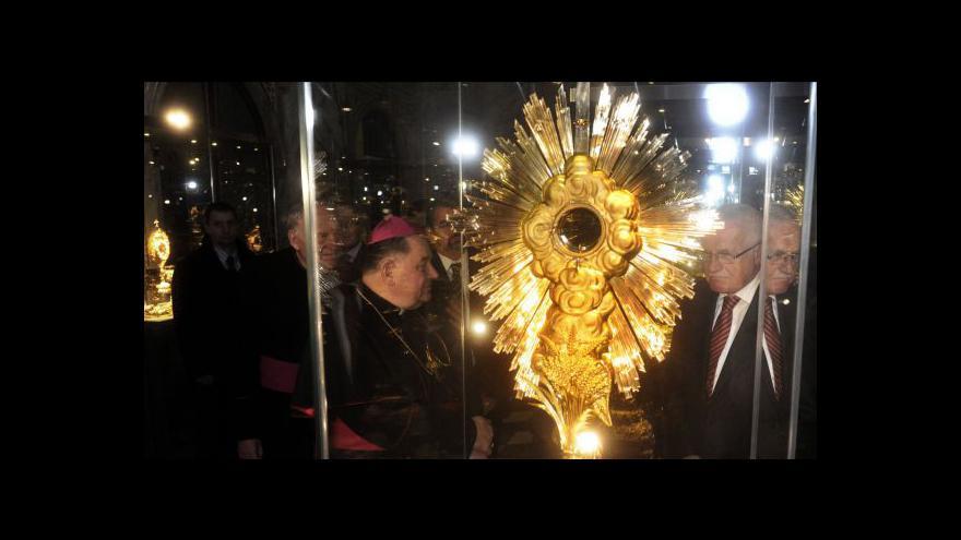 Video Slavnostní otevření výstavy Svatovítského pokladu