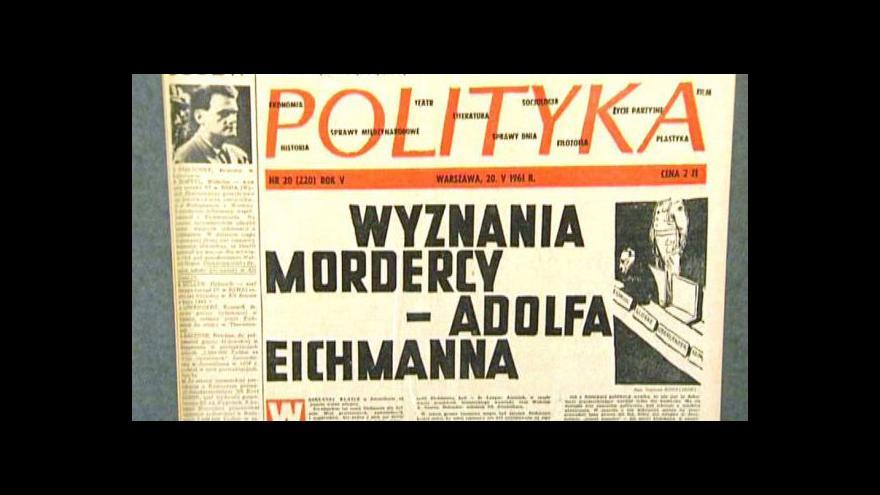 Video Eichmann si vyslechl rozsudek smrti