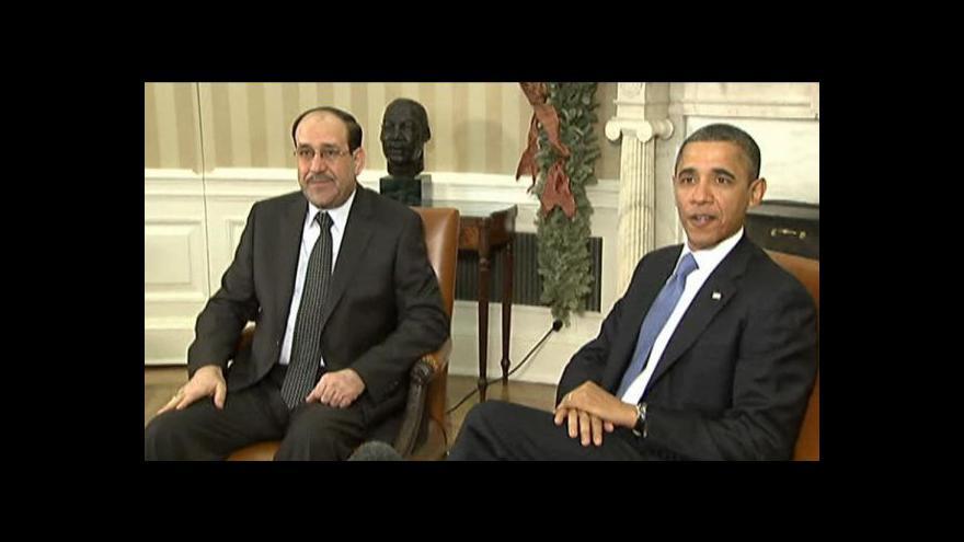 Video Irácký premiér navštívil USA